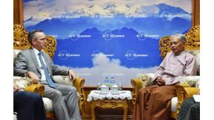 အမေရိကန်နိုင်ငံသံရုံးမှ သံအမတ်ကြီး H.E. Mr. Scot Marciel နှင့် တွေ့ဆုံဆွေးနွေးမှု