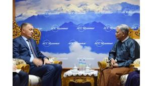 ရုရှားနိုင်ငံသံရုံးမှ သံအမတ်ကြီး H.E. Dr. Nikolay Listopadov နှင့် တွေ့ဆုံဆွေးနွေးမှု