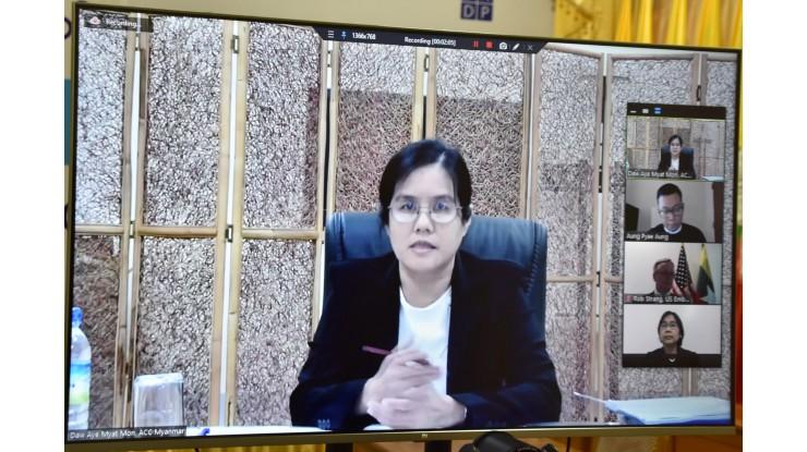 """နိုင်ငံတကာအဂတိလိုက်စားမှုတိုက်ဖျက်ရေးနေ့ အထိမ်းအမှတ်အဖြစ် """"Breaking the Culture of Corruption'' ခေါင်းစဉ်ဖြင့် Online ဆွေးနွေးပွဲတွင် ပါဝင်ဆွေးနွေးခြင်း"""