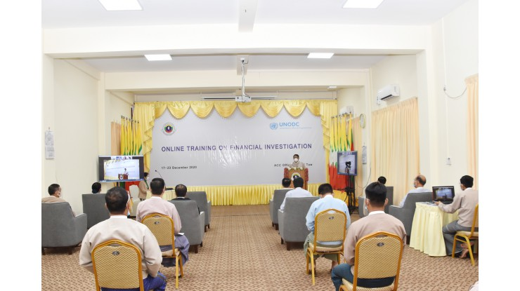 Online Training on Financial Investigation သင်တန်းကျင်းပခြင်း