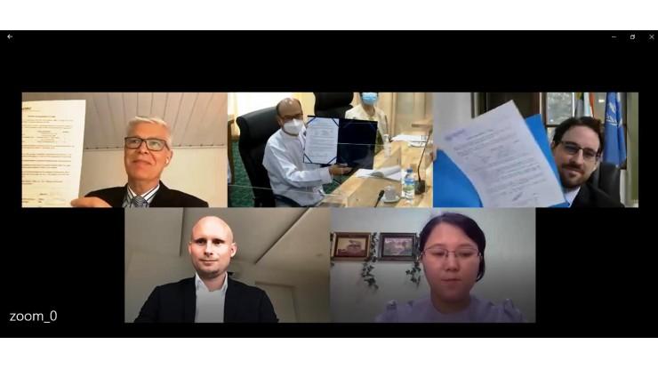 မြန်မာနိုင်ငံအခြေစိုက် ဒိန်းမတ်သံရုံး၏ ကူညီပံ့ပိုးမှု၊ (UNODC) ၏ နည်းပညာအကူအညီဖြင့် စီးပွားရေးလုပ်ငန်း နယ်ပယ်၌ စစ်တမ်းကောက်ယူနိုင်ရေး နှင့်စပ်လျဉ်း၍ လိုအပ်သည့် IT ပစ္စည်းများ လွှဲပြောင်းပေးအပ်ပွဲ အခမ်းအနားကျင်းပခြင်း