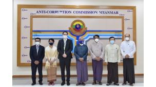 အဂတိလိုက်စားမှုတိုက်ဖျက်ရေးကော်မရှင် ဥက္ကဋ္ဌ ဦးအောင်ကြည် မြန်မာနိုင်ငံဆိုင်ရာ UNODC Country Manager ဖြစ်သူ Mr. Benedikt Hofmann အား လက်ခံတွေ့ဆုံခြင်း