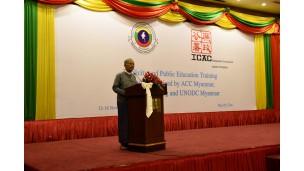 -    အဂတိလိုက်စားမှု တိုက်ဖျက်ရေးကော်မရှင်သည်ဟောင်ကောင်ဒေသ အဂတိလိုက်စားမှု တိုက်ဖျက်ရေးကော်မရှင်(Independent Commission  Against Corruption -ICAC)နှင့် ပူးပေါင်းပြီး Publicity and Public Education Training သင်တန်းဖွင့်ပွဲ အခမ်းအနားပြုလုပ်