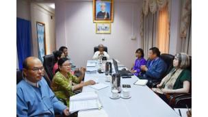 အဂတိလိုက်စားမှုတိုက်ဖျက်ရေးကော်မရှင်ဥက္ကဋ္ဌ MATA အဖွဲ့မှ တာဝန်ရှိသူများအား လက်ခံတွေ့ဆုံ