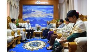 အဂတိလိုက်စားမှုတိုက်ဖျက်ရေးကော်မရှင်ဥက္ကဋ္ဌက ရန်ကုန်မြို့ နယူးဇီလန်နိုင်ငံသံရုံးမှ သံအမတ်ကြီး H.E. Mr. Steve Marshall နှင့် အဖွဲ့အား လက်ခံတွေ့ဆုံ