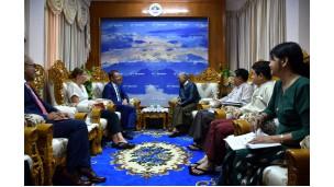 အဂတိလိုက်စားမှုတိုက်ဖျက်ရေးကော်မရှင်ဥက္ကဋ္ဌ ဦးဆောင်၍ မြန်မာနိုင်ငံဆိုင်ရာ နယ်သာလန်နိုင်ငံသံရုံးမှ သံအမတ်ကြီး  H.E. Mr.Wouter Jurgens နှင့်အဖွဲ့အား လက်ခံတွေ့ဆုံ