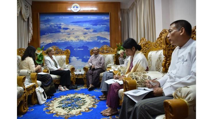 အဂတိလိုက်စားမှုတိုက်ဖျက်ရေးကော်မရှင် ဥက္ကဋ္ဌ ဦးအောင်ကြည်သည် မြန်မာနိုင်ငံဆိုင်ရာ နော်ဝေသံအမတ်ကြီး H.E. Ms. Tone Tinnes အား လက်ခံတွေ့ဆုံခြင်း